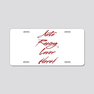 Auto Racing Lover Aluminum License Plate