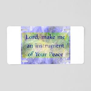 Prayer of St. Francis Aluminum License Plate