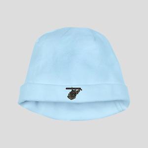 WEST VA RIG UP CAMO baby hat