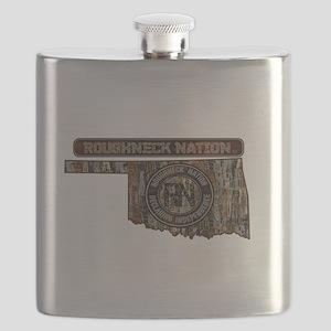 OKLAHOMA RIG UP CAMO Flask