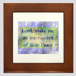 Prayer of St. Francis Framed Tile