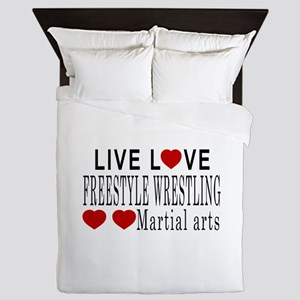 Live Love Freestyle Wrestling Martial Queen Duvet