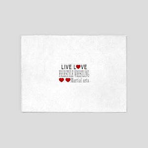 Live Love Freestyle Wrestling Marti 5'x7'Area Rug