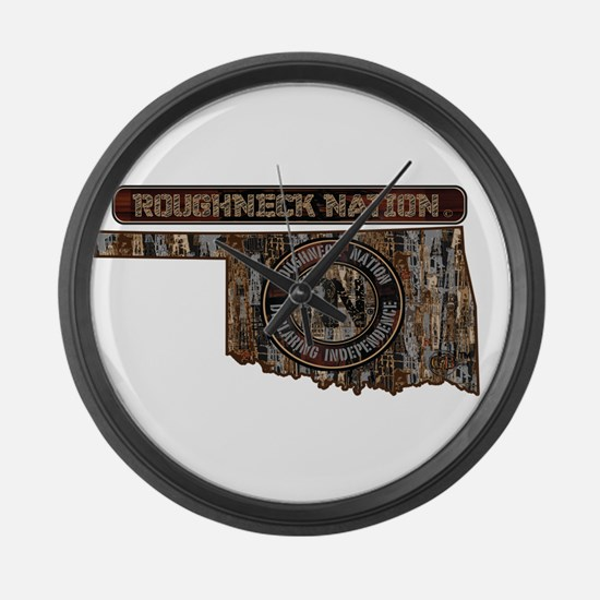 OKLAHOMA RIG UP CAMO Large Wall Clock