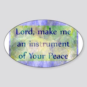 Prayer of St. Francis Sticker (Oval)