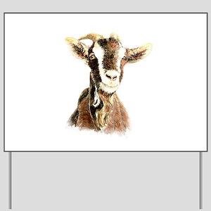Watercolor Goat Farm Animal Yard Sign
