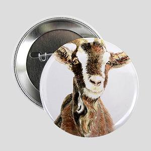 "Watercolor Goat Farm Animal 2.25"" Button"