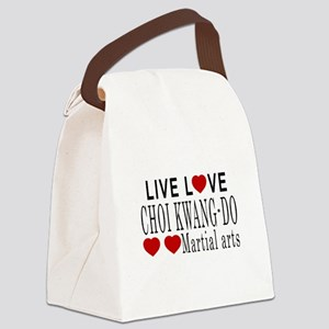 Live Love Choi Kwang-Do Martial A Canvas Lunch Bag