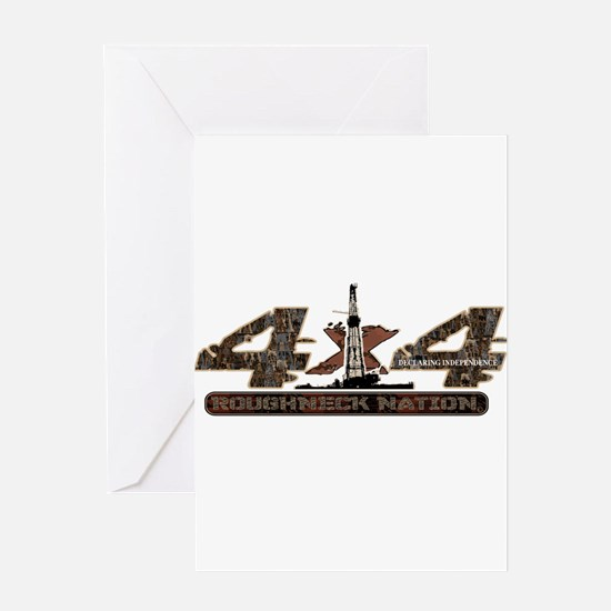 4 X 4 RIG UP CAMO Greeting Cards
