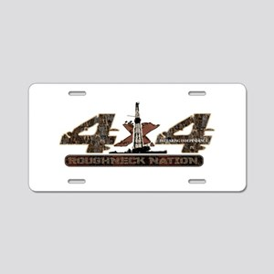 4 X 4 RIG UP CAMO Aluminum License Plate