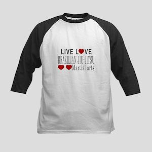 Live Love Brazilian Jiu-Jitsu Kids Baseball Jersey