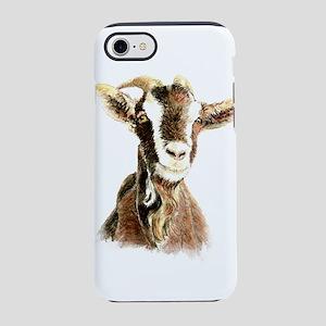 Watercolor Goat Farm Animal iPhone 8/7 Tough Case