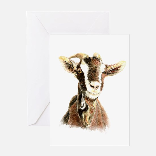 Watercolor Goat Farm Animal Greeting Cards