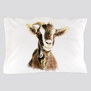 Watercolor Goat Farm Animal Pillow Case