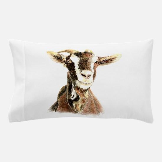 Watercolor Goat Farm Animal Pillow Case