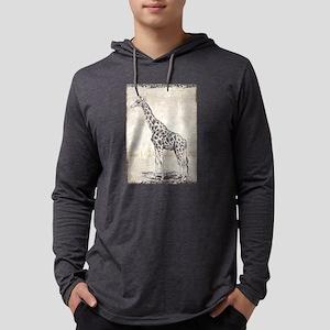 Vintage Giraffe Drawing Long Sleeve T-Shirt