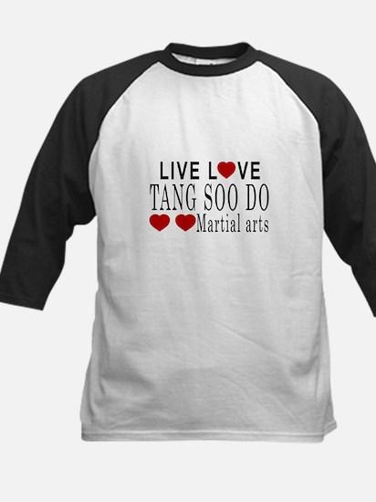 Live Love Tang Soo do Martial Kids Baseball Jersey