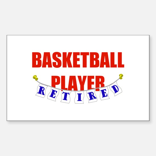 Retired Basketball Player Rectangle Decal