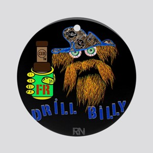 DRILLBILLY BLUE round Round Ornament