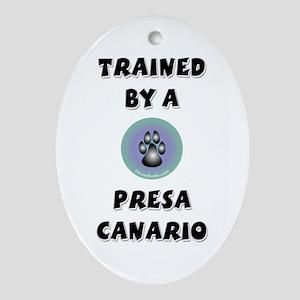 Trained by a Presa Keepsake (Oval)