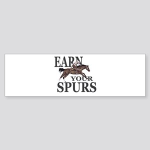 Barrel Racer: Earn Your Spurs Bumper Sticker