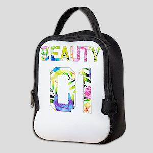 Beauty and Beast Neoprene Lunch Bag