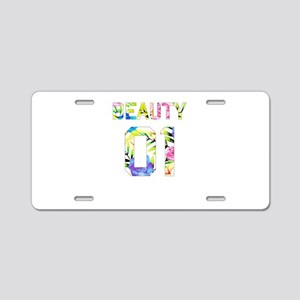 Beauty and Beast Aluminum License Plate