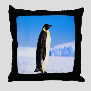 mr penguin slolo Throw Pillow