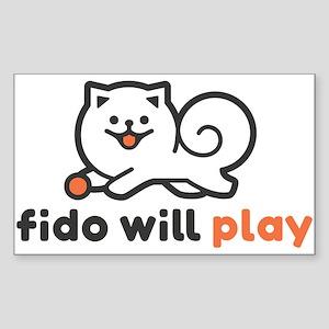 Fido Will Play (Horizontal) Sticker