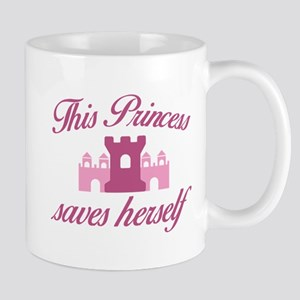 This Princess Saves Herself Mugs