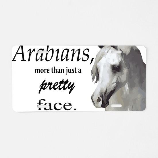 Cute Grey arabian Aluminum License Plate