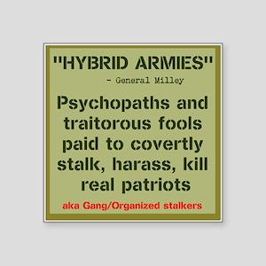 "HYBRID ARMIES Square Sticker 3"" x 3"""