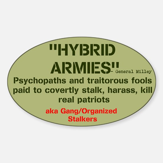 HYBRID ARMIES Sticker (Oval)