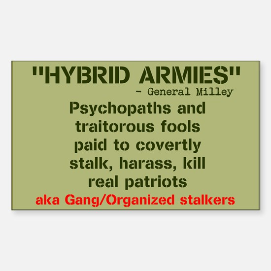 HYBRID ARMIES Sticker (Rectangle)