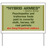 Gang stalking Yard Signs