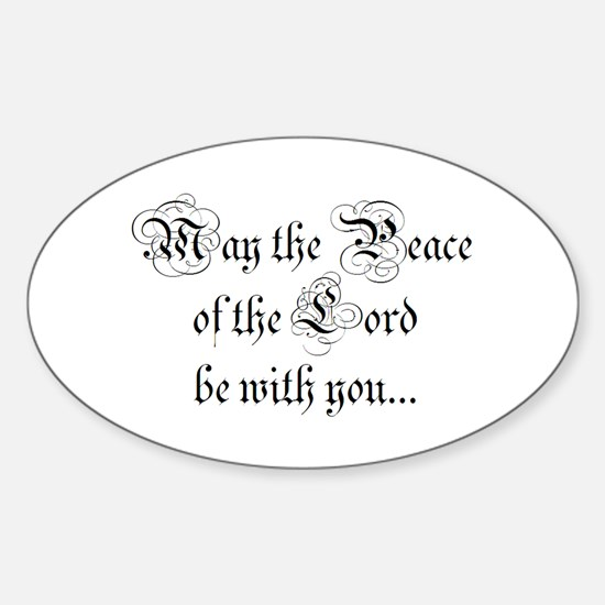 ...and also with you. Oval Decal