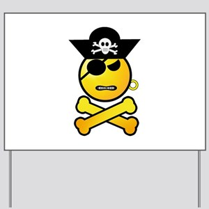 Pirate Emoticon - Angry Pirate Yard Sign