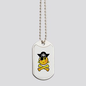 Pirate Girl Emoticon Dog Tags