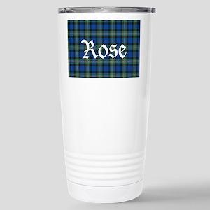 Tartan-Rose hunting Stainless Steel Travel Mug