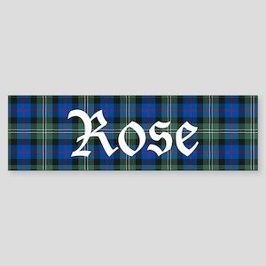 Tartan-Rose hunting Sticker (Bumper)