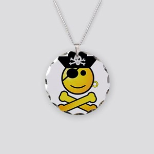 Pirate Boy Emoticon Necklace Circle Charm