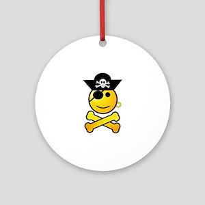 Pirate Boy Emoticon Round Ornament