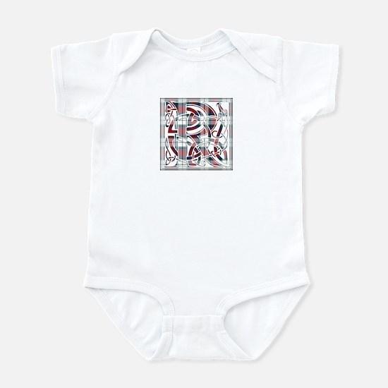 Monogram-Rose dress Infant Bodysuit