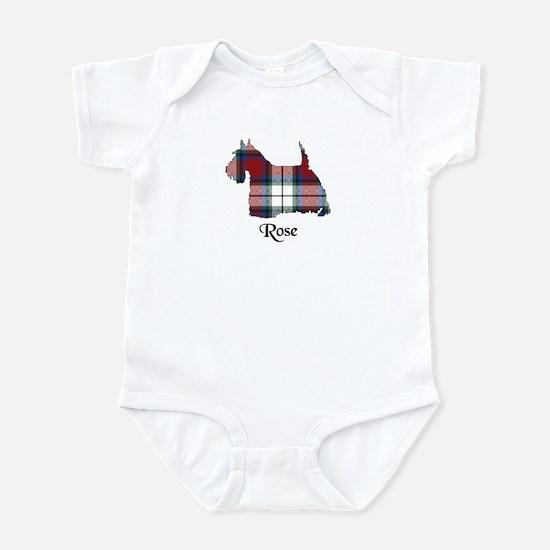 Terrier-Rose dress Infant Bodysuit