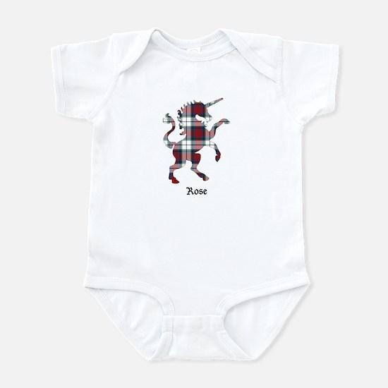Unicorn-Rose dress Infant Bodysuit