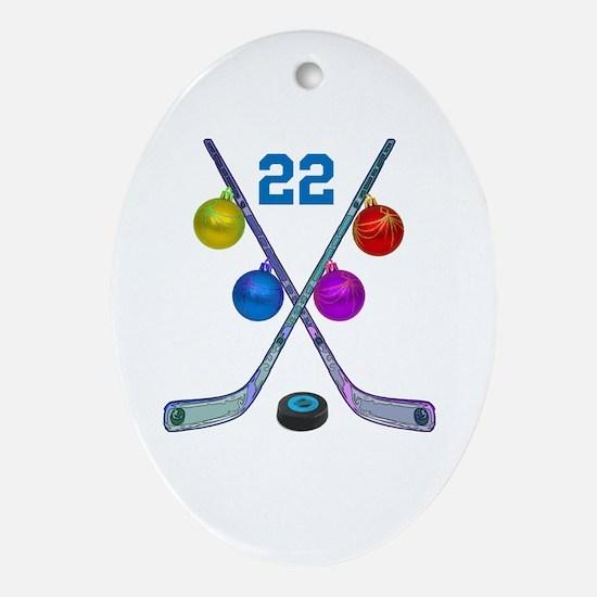 hockey Oval Ornament