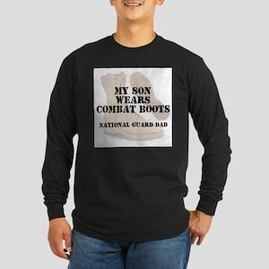 National Guard Dad Son wears DCB Long Sleeve T-Shi