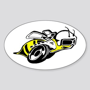 SUPER BEE 2 Oval Sticker