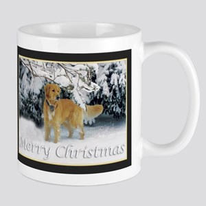 Golden Retriever Merry Christmas Mugs