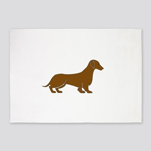 Dachshund in Brown 5'x7'Area Rug